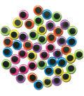 Paste-On Wiggle Eyes 20mm 50/Pkg-Brights