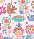 Snuggle Flannel Fabric -Woodland Folk Animals