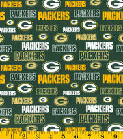 "Green Bay Packers Cotton Fabric 58""-Glitter, , hi-res"