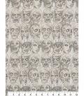 Halloween Cotton Fabric-Skin & Bones