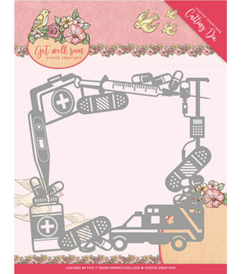 Find It Trading Yvonne Creations Get Well Soon Die-Get Well Frame