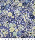 Quilter\u0027s Showcase Cotton Fabric-Large Flowers Pinwheel Dark Purple