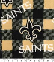 New Orleans Saints Fleece Fabric-Buffalo Plaid, , hi-res