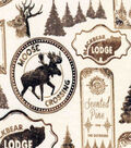 Snuggle Flannel Fabric-Blackbear Lodge Sketched