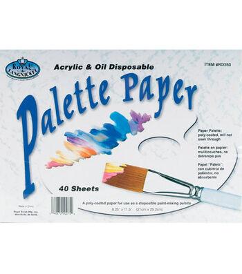"""Disposable Palette Paper 8-1/4""""X11-1/5"""" 40 Sheets/Pad"""