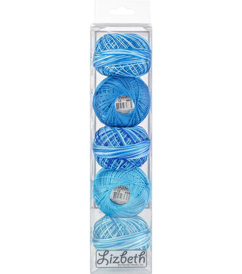 Handy Hands Lizbeth Cordonnet Cotton Threads Size 10-Turquoise Twist