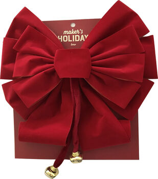 Maker's Holiday Christmas 14'' Veltex Bow-Red