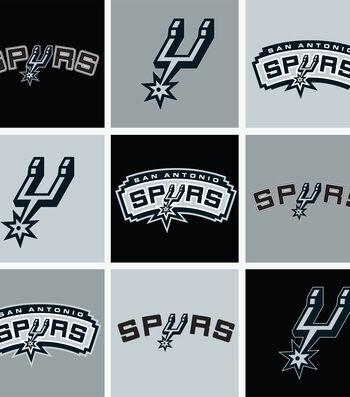San Antonio Spurs Fleece Fabric -Block