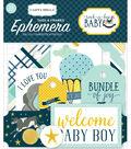 Carta Bella Ephemera Die Cut Frames & Tags-Rock A Bye Baby Boy