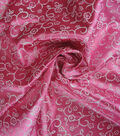 Glitterbug Fabric-Satin Print Fuchsia