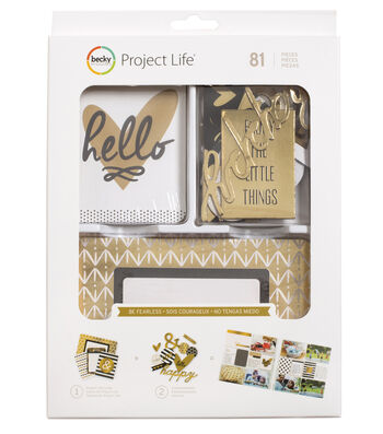 Project Life Becky Higgins 81 Pack Value Kit-Be Fearless