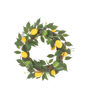 Fresh Picked Spring 22'' Lemon, Grapevine & Lime Wreath