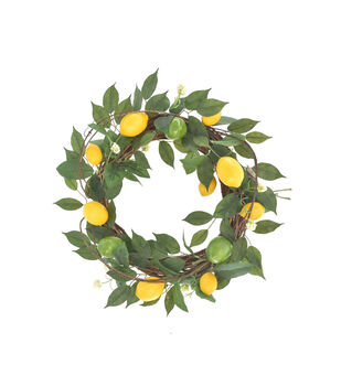 Fresh Picked Spring 22'' Lemon, Grapevine & Lime Wreath