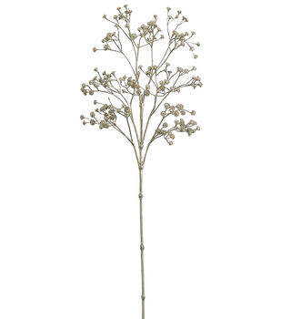"Bloom Room 26"" Metallic Gypsophila Spray-Gold"