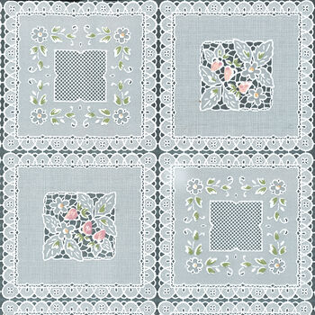 "Tablecloth Vinyl 54""-Squares Floral"