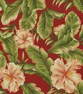 Solarium Outdoor Fabric 54\u0022-Palm Floral Garden