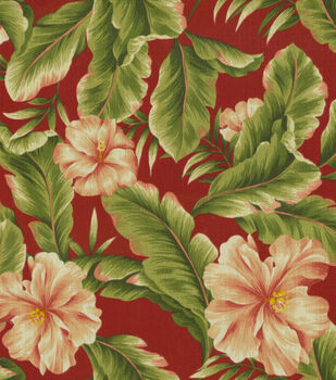 "Solarium Outdoor Fabric 54""-Palm Floral Garden"