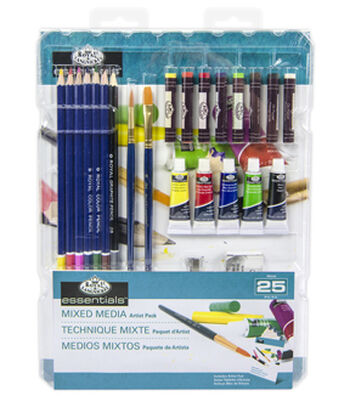 Royal Langnickel Essential 25pc Mixed Media Pack