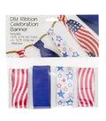 Offray DIY Ribbon Celebration Banner Kit-Patriotic