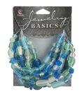 Jewelry Basics Mixed Hues And Shapes 50gr/Pk-Aqua
