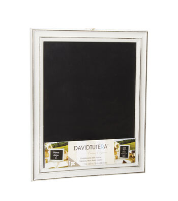 "David Tutera Casual Elegance 7.5""x9.5"" Chalkboard with Wood Frame-Whitewash"