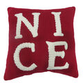 Handmade Holiday Christmas 12\u0027\u0027x12\u0027\u0027 Pillow-Nice