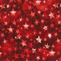 Patriotic Cotton Fabric-Bright Multi Colored Stars on Red