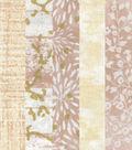 Fat Quarter 5 pk Cotton Fabric Bundle 18\u0027\u0027x21\u0027\u0027-Cream with Gold Glitter