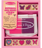 Melissa & Doug Butterfly and Hearts Stamp Set, , hi-res