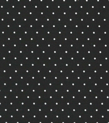 "Quilter's Showcase Cotton Fabric 44""-Black Dot"