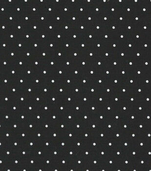 "Quilter's Showcase Cotton Fabric 44""-Black Dot"