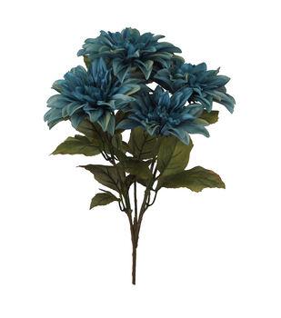 Blooming Autumn Dahlia Bush-Blue