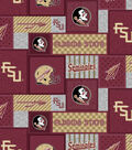 Florida State Seminoles Fleece Fabric-College Patch