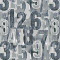 Novelty Cotton Fabric-Distressed Numbers on Gray