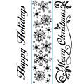 Darice Embossing Folder Borders Set Seasonal