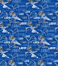 Detroit Lions Cotton Fabric-Retro