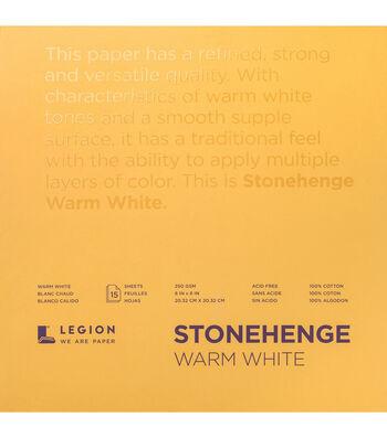 Legion Paper Stonehenge 15-sheet 8''x8'' 90 lb Paper Pad-Warm White