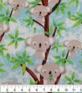 Anti-Pill Plush Fleece Fabric-Happy Koalas