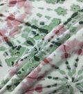 Knit Prints Rayon Spandex Fabric-Green Pink Tie Dye