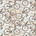 Novelty Cotton Fabric-Nostalgic Travels Bicycles