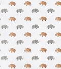 Snuggle Flannel Fabric-Rhinoceros