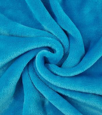 Sew Lush Fleece Fabric -Colonial Blue