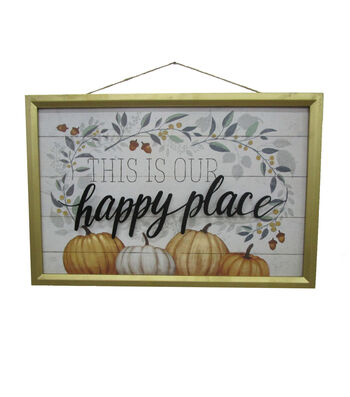 Simply Autumn Medium Frame Wall Decor-This is our Happy Place