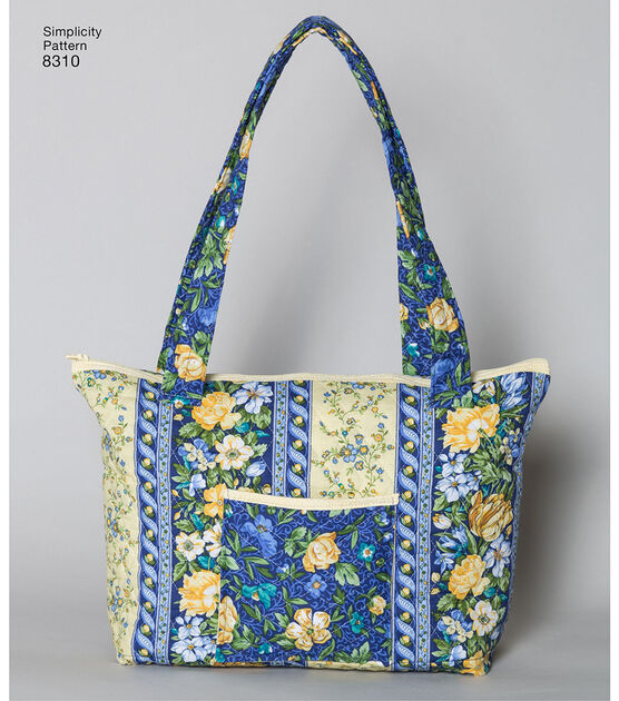 One Size Simplicity Creative Patterns US8310OS Quilted Bags in Three Sizes Pattern One Size