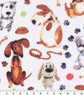 Anti-Pill Plush Fleece Fabric-Sweet Puppies