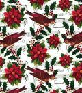 Christmas Cotton Fabric-Poinsettia Sheet Music