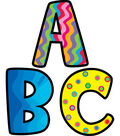 Poppin Patterns: 2 Inch Letter Stickers