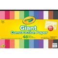 Crayola 48-sheet 18\u0027\u0027x12\u0027\u0027 Giant Construction Papers with Stencil Sheet