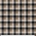 Super Snuggle Flannel Fabric-Taupe Black Tri Buffalo Check