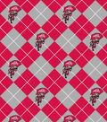 Ohio State University Buckeyes Fleece Fabric 60\u0027\u0027-Argyle